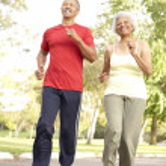 Senior Couple Jogging In Park — Stock Photo #4822720