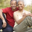 Senior Couple Resting After Exercise — Stock Photo