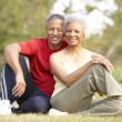Senior Couple Resting After Exercise — Stock Photo #4822743