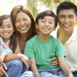 Family Enjoying Day In Park — Stock Photo #4822803