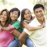Family Enjoying Day In Park — Stock Photo