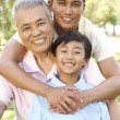 Portrait of Happy Family In Park — Stock Photo #4822843