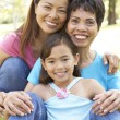 Grandmother With Daughter And Granddaughter In Park — ストック写真