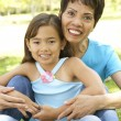 Mother And Daughter Enjoying — Stock Photo