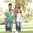 Family Enjoying Day In Park - Stock Photo