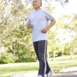 Middle Aged Man Jogging — Stock Photo