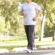 Senior Man Jogging In Park — Stock Photo