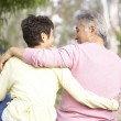 Back View Of Senior Couple In Park — Stock Photo #4822911