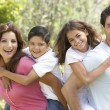 Portrait of Happy Family In Park - 