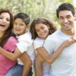 portrait of happy family park — Stockfoto #4823021