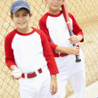Foto Stock: Young Boys Playing Baseball
