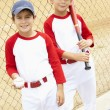图库照片: Young Boys Playing Baseball