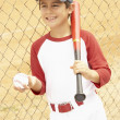 Young Boy Playing Baseball — Stock Photo #4823095