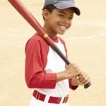 mladík hrál baseball — Stock fotografie