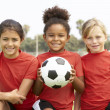Young Girls In Football Team — Stock fotografie #4823135