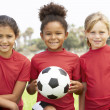 Young Girl In Football Team — Stock Photo
