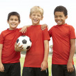Young Boys In Football Team Celebrating — Stock Photo #4823168