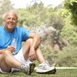 Senior Man Relaxing After Exercise — Stock Photo #4823263