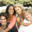 Group Of Teenagers Having Fun — Stock Photo