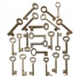 House Made From Keys — Stock Photo #4823454