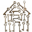 House Made From Keys — Stock Photo