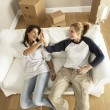 Girlfriends Moving Into New Home — Stock Photo #4823613