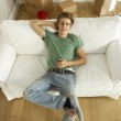 Young Man Moving Into New Home — Stock Photo