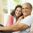 Senior Couple Relaxing At Home - Foto Stock
