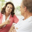 Senior Couple Having Arguement At Home — Stock Photo