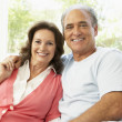 Stock Photo: Senior Couple Relaxing At Home