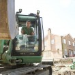 Stock Photo: Construction Worker Using Digger