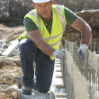Construction Worker Laying Foundations — Stock Photo #4823987