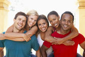Group Of Young Friends Having Fun Together — Stock Photo