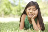 Portrait Of Young Girl In Park — Stock Photo