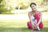 Young Woman Resting After Exercise — Stock Photo