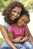 Portrait Of Mother And Daughter In Park — Stock Photo