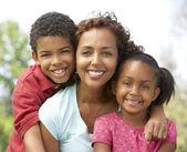 Mother With Children In Park — Stok fotoğraf