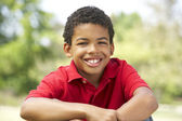 Portrait Of Young Boy In Park — Stock Photo