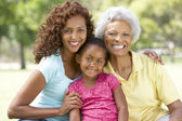 Grandmother With Daughter And Granddaughter In Park — Foto Stock