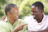 Father With Adult Son In Park — Stock Photo
