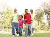 Grandparents In Park With Grandchildren — Stock Photo