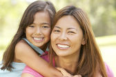 Mother And Daughter Enjoying Day In Park — Stock Photo