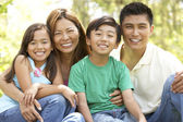 Family Enjoying Day In Park — Stock Photo