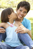 Grandmother With Granddaughter In Park — Stock Photo