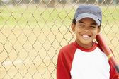 Young Boy Playing Baseball — Stock Photo