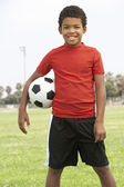 Young Boy In Football Team — Stock Photo