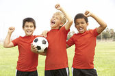 Children playing football — Stock Photo