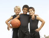 Young Boy Playing Basketball — Stock Photo