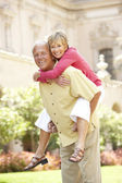 Senior Couple Having Fun In City — Stock Photo