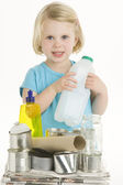 Child Holding Recycling — Stock Photo